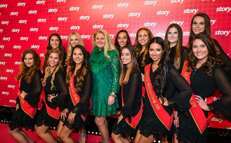 Darlene Devos en de Miss België-finalistes