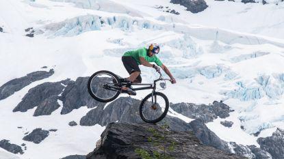 Kenny Belaey stunt op ijs in Alaska