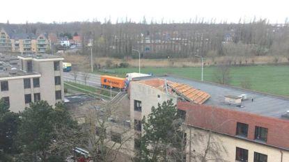 """Stormwind rukt dak van serviceflats Hof Ter Engelen: """"Pluim voor het personeel en de brandweer die snel ter plaatse waren"""""""