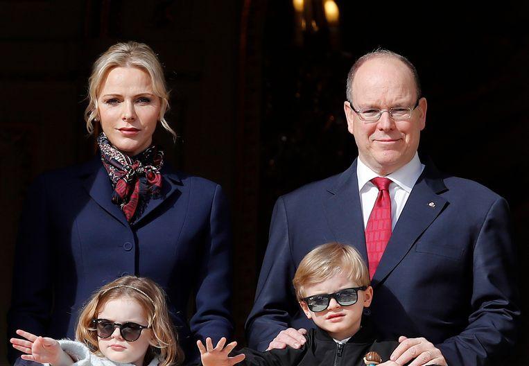Prins Albert II en zijn gezin.