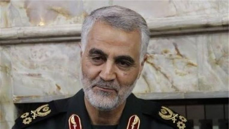 Generaal Qasim Soleimani van de Revolutionaire Garde, 'de Iraanse Lawrence of Arabia'. Beeld