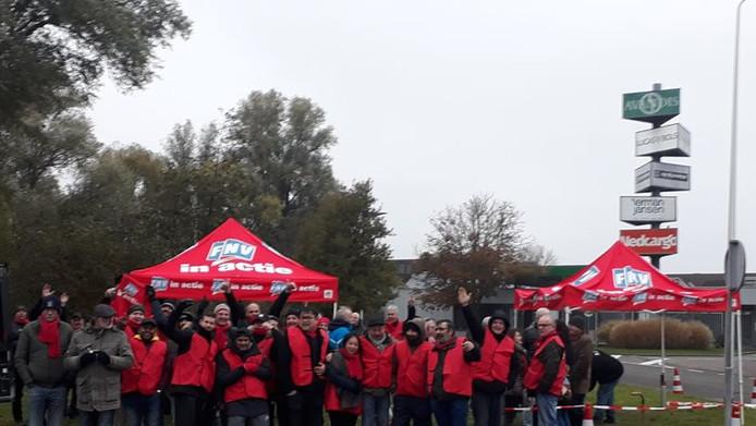 FNV Protesteert bij Bols en Beerenburg