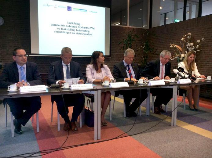 Persconferentie burgemeesters van West-Brabant
