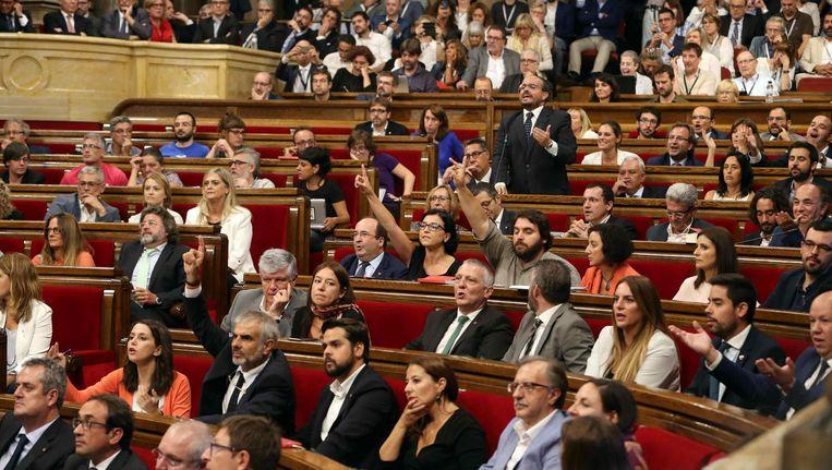 Het Catalaanse parlement. Beeld EPA
