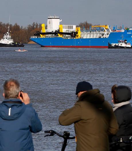 Voor het laatst baggerschip te water bij Royal IHC in Kinderdijk