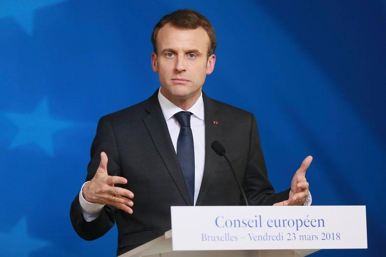 De Franse president Emmanuel Macron. Beeld EPA