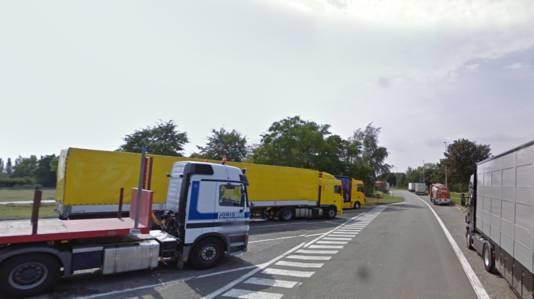 De snelwegparking langs de E17 in Gentbrugge