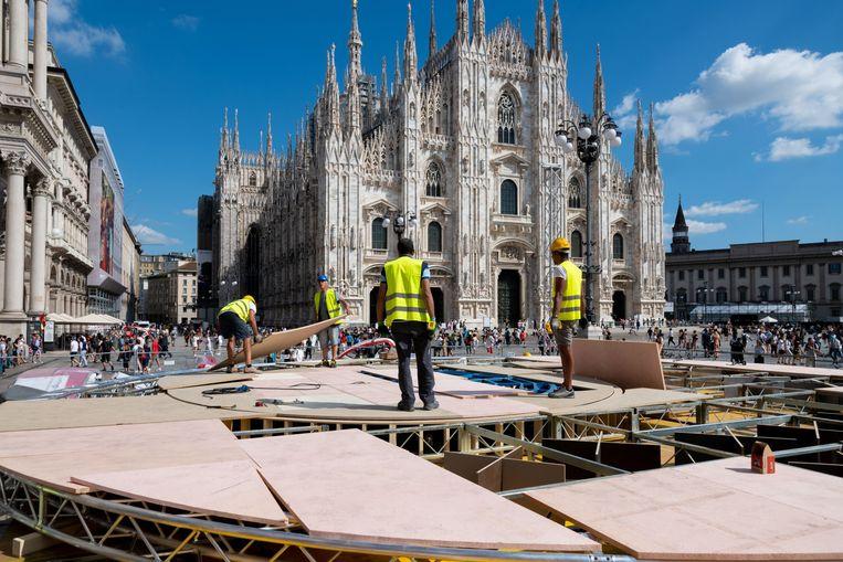 De Piazza Duoma in Milaan.