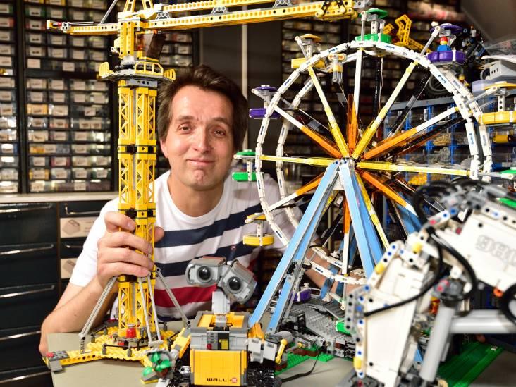 Alex (49) heeft zijn huis vol staan met grote bouwwerken van Lego: 'Alles moet in detail kloppen'