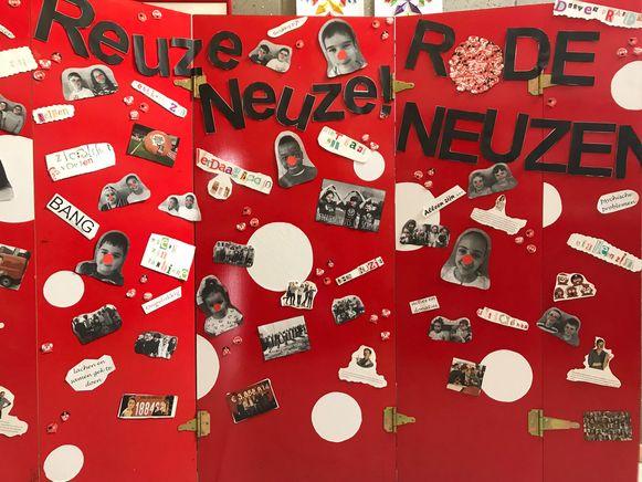 De lagere scholen De Eekhoorn en Kameleon in Wemmel nemen deel aan de Rode Neuzen Dag.