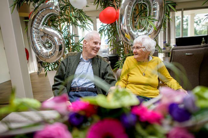 Echtpaar Adam-Felix 60 jaar getrouwd.