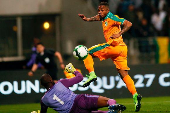 Gohi Bi Cyriac scoorde de gelijkmaker voor Ivoorkust.