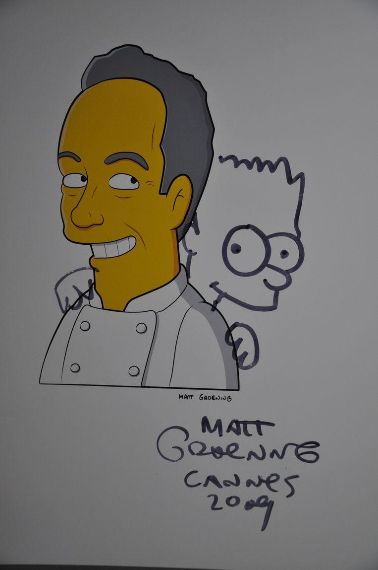 De strip-alter ego in The Simpsons van de chef. Beeld