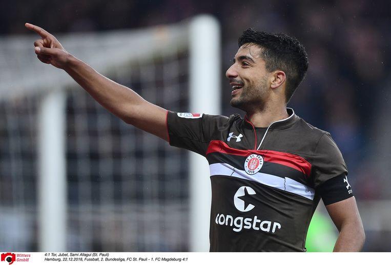 Sami Allagui in het shirt van Sankt Pauli