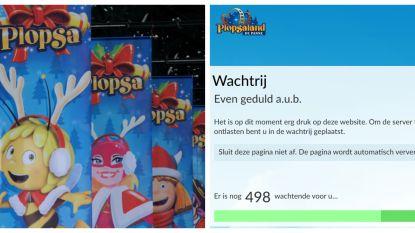 Wachtrij voor ticketverkoop Plopsaland: pretpark geeft 10 procent korting per goal van de Rode Duivels