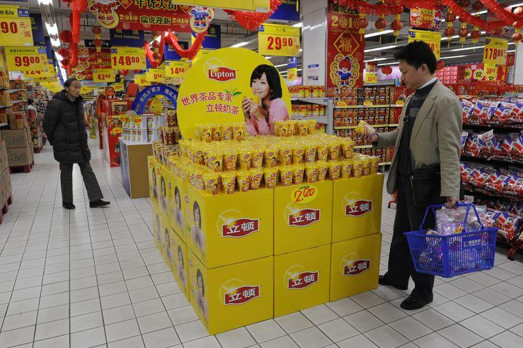 Het is de vraag of theemerk Lipton onderdeel blijft van Unilever.  Beeld unilever