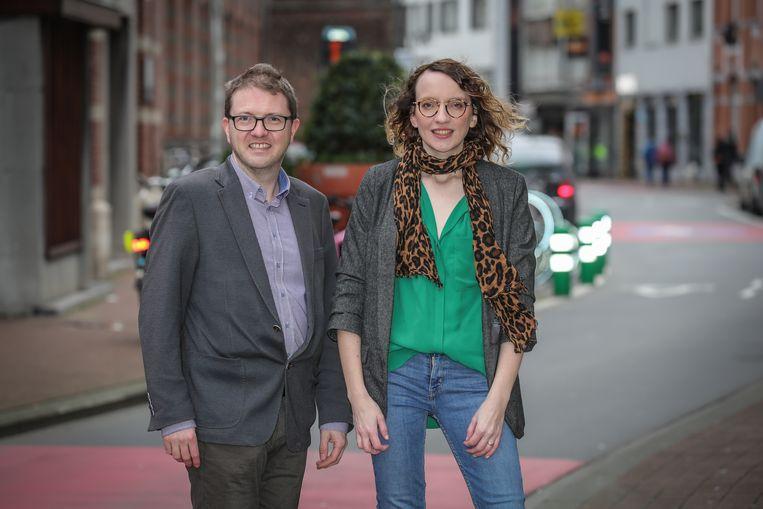 Nieuwe voorzitters van Groen Limburg Sven Saenen en Sara Moors.
