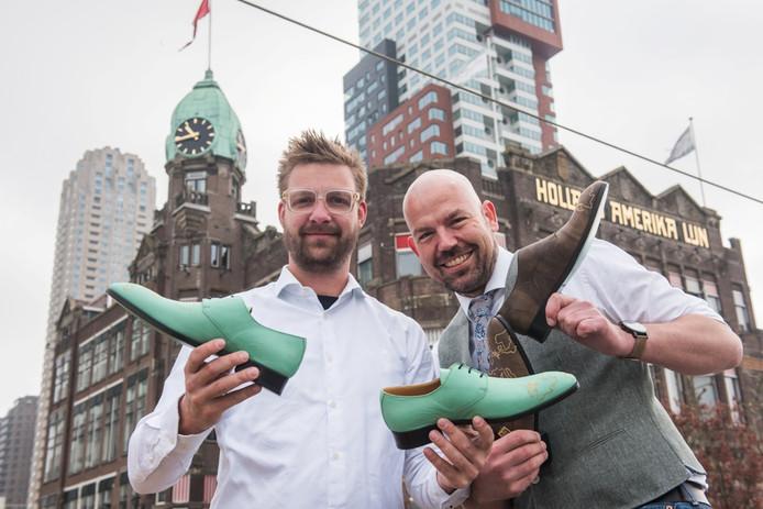 Het Rotterdamse schoenenmerk Mascolori heeft speciale jubileumschoenen ontworpen voor Hotel New York.