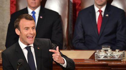 """Macron in Amerikaans Congres: """"Nationalisme niet het antwoord, samenwerking wel"""""""