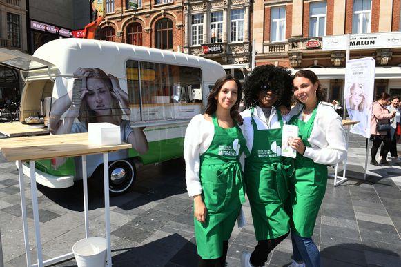 Op het Martelarenplein in Leuven kan je vandaag ontdekken welke voedingsmiddelen migraine kunnen veroorzaken.