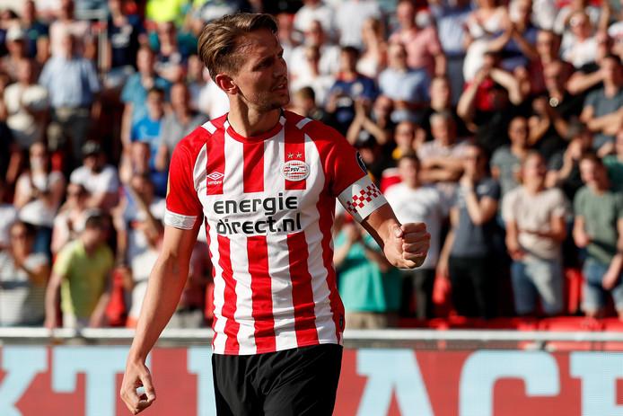 Luuk de Jong, de topscorer van PSV in dit seizoen met 28 goals.