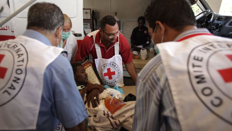 Een team van het Rode Kruis in Libië. (archieffoto) Beeld AFP