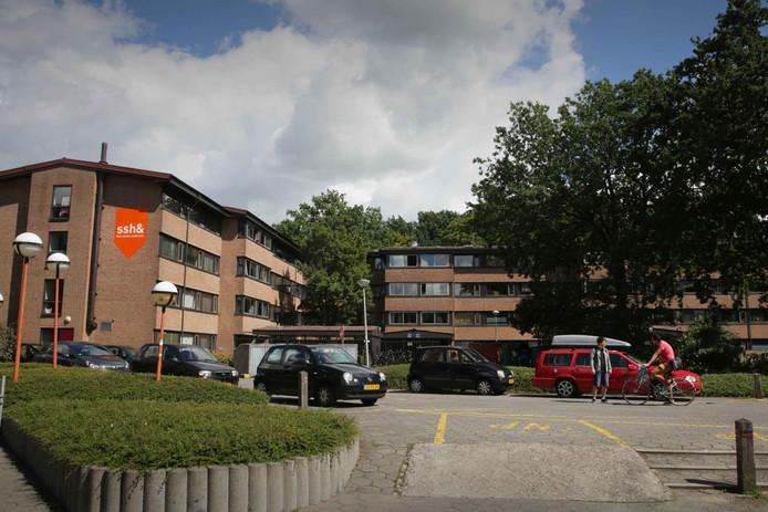 Studentencomplex Hoogeveldt in Nijmegen.