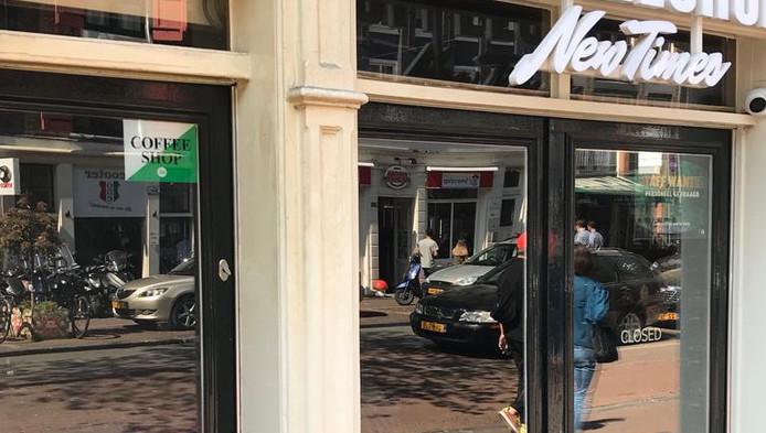 De coffeeshop New Times is gesloten