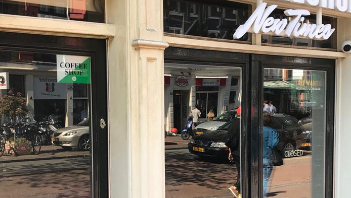 De coffeeshop New Times is gesloten