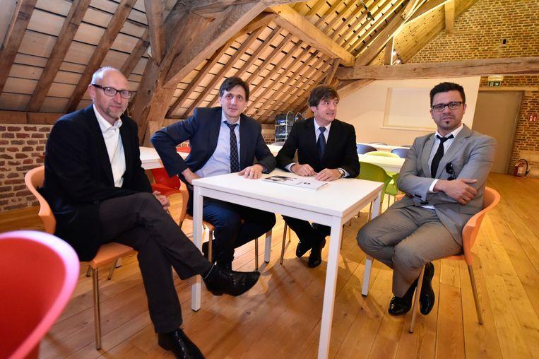 De initiatiefnemers van het educatief centrum 'Willewete' in de abdijsite Herkenrode.