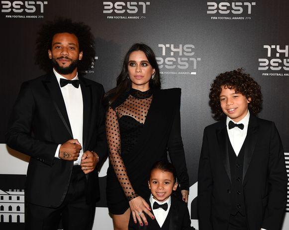 Marcelo (L) met zijn vrouw Clarisse en hun kinderen.