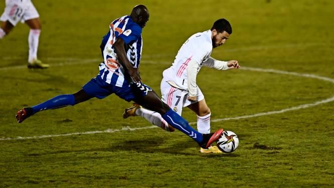 Een absolute vernedering: Real Madrid, met invaller Hazard en zonder Courtois, uitgeschakeld door derdeklasser in Copa del Rey