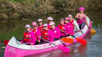 Pink Ribonnettes laten 'Louis Zimmer' te water