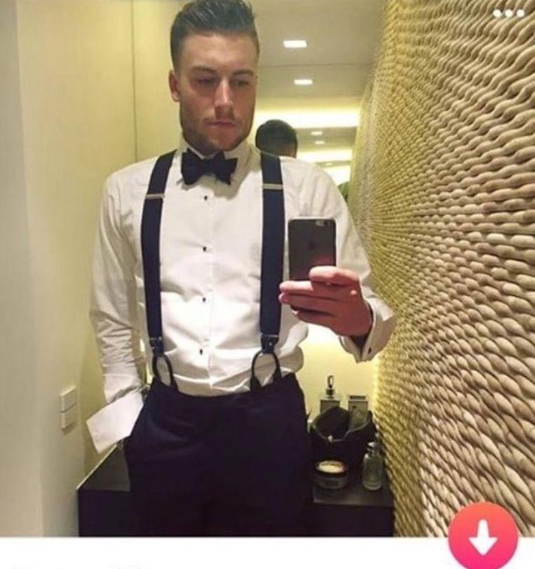 Viktor Verhulst 'op Tinder'.