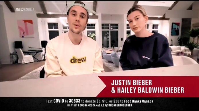 Justin Bieber et sa femme Hailey Bieber ont envoyé leur soutien au personnel soignant et à la population canadienne.