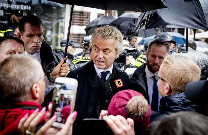 Geert Wilders tijdens een eerder bezoek aan Breda.
