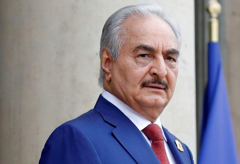 Khalifa Haftar heeft de controle over het oostelijk deel van Libië. Beeld REUTERS