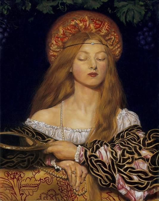 Tessa Aalbregts studie van Frank Cowpers schilderij 'Vanity'.