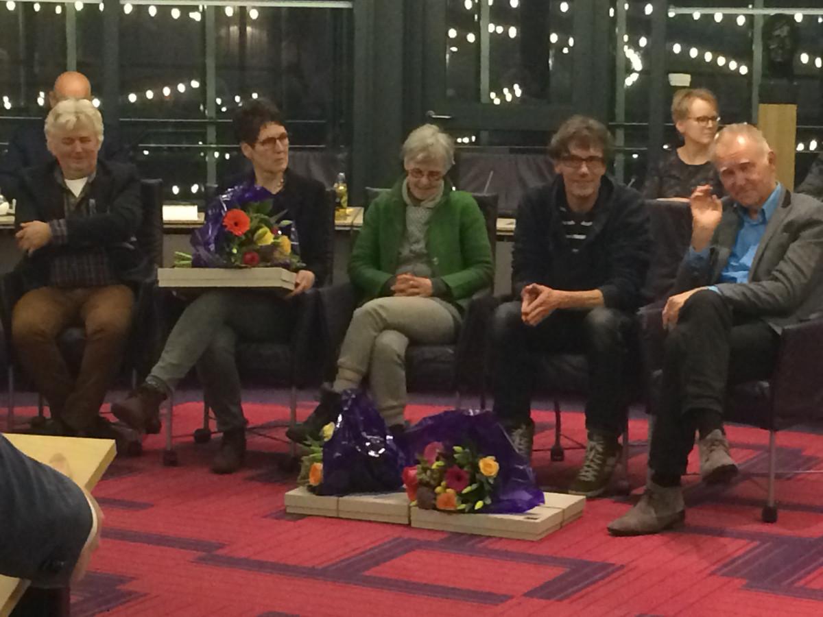 Boxtel nam afscheid van een aantal raadsleden. Van links naar rechts: Karel Voets, Erica Vos, Marije van Kuijk, Marco Bressers en Nico Bulter.