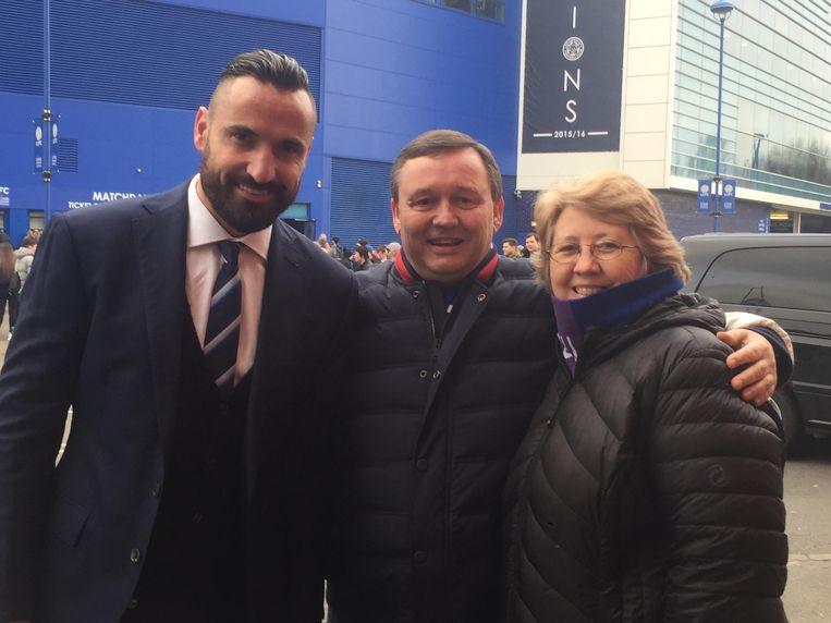 Olav en zijn vrouw mochten twee jaar geleden op uitnodiging van ex-Anderlechtspeler Marcin Wasilewski naar zijn toenmalige club Leicester City.