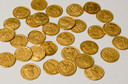 De munten die in Lienden zijn gevonden.