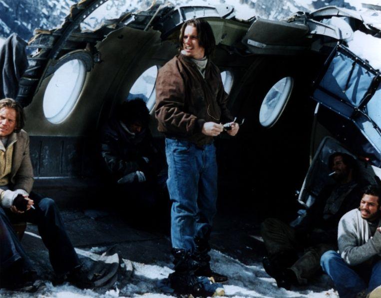 Ethan Hawke in de film 'Alive' uit 1993, de verfilming van de ramp in het Andesgebergte. Beeld anp kippa