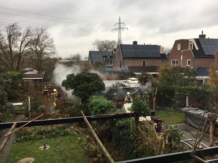 Brand in een schuur aan de Grutto in Deventer.
