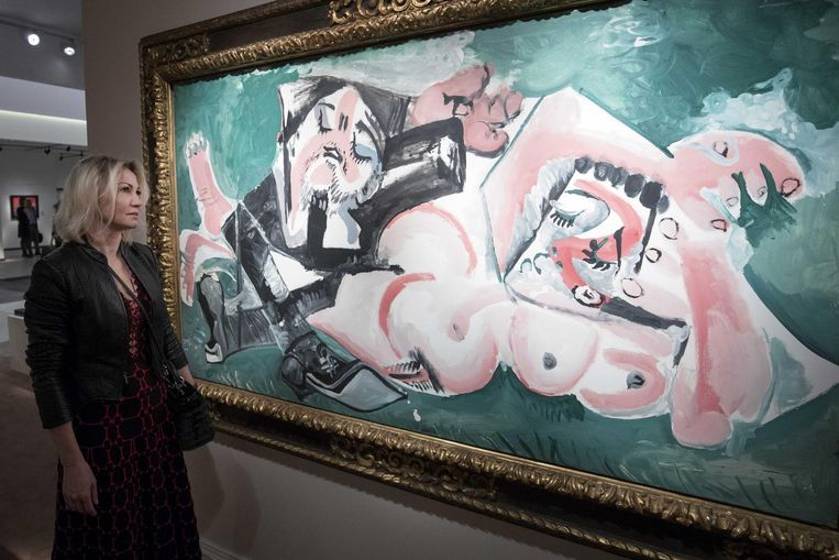 Pablo Picasso, Les Dormeurs (1965) op Tefaf. Beeld ANP