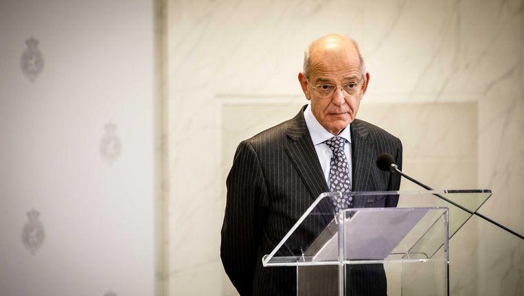 Informateur Gerrit Zalm zei woensdag tegen de pers dat er 'een heel zware druk op de onderhandelaars ligt' Beeld Bart Maat/ANP
