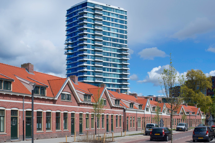 Vernieuwing Philipsdorp voor corporatie Woonbedrijf. Ontwerp: BouwHulpgroep Eindhoven. Foto Patrick Meis