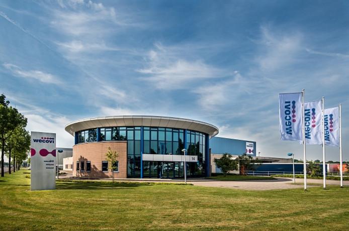 Het bedrijfspand van Wecovi op het Zwolse industrieterrein Marslanden.  Het bedrijf verhuist niet naar bedrijvenpark H2O maar onderzoekt mogelijkheden om in Zwolle te vernieuwen en uit te breiden.