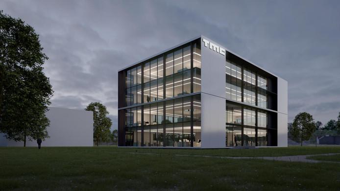 Impressie van het nieuwe pand dat TMC wil laten bouwen op de High Tech Campus.