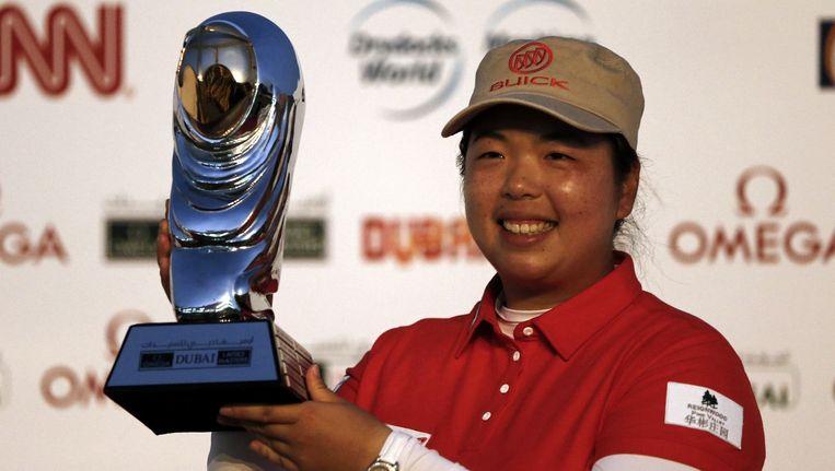 De Chinese Feng mocht in Dubai al voor de tweede keer met de beker pronken.