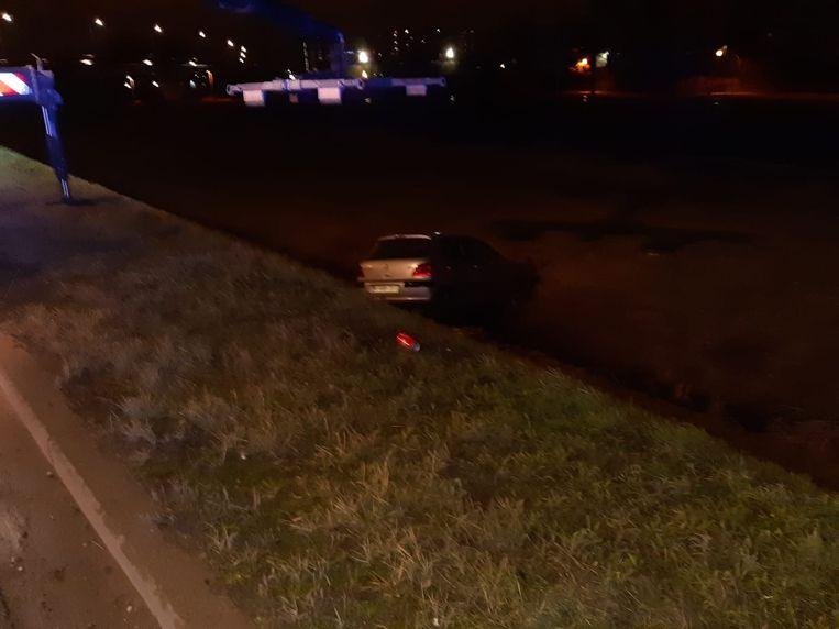 De bestuurster geraakte lichtgewond.